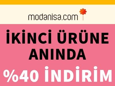 Modanisa'da İkinci Ürüne Anında %40 İndirim