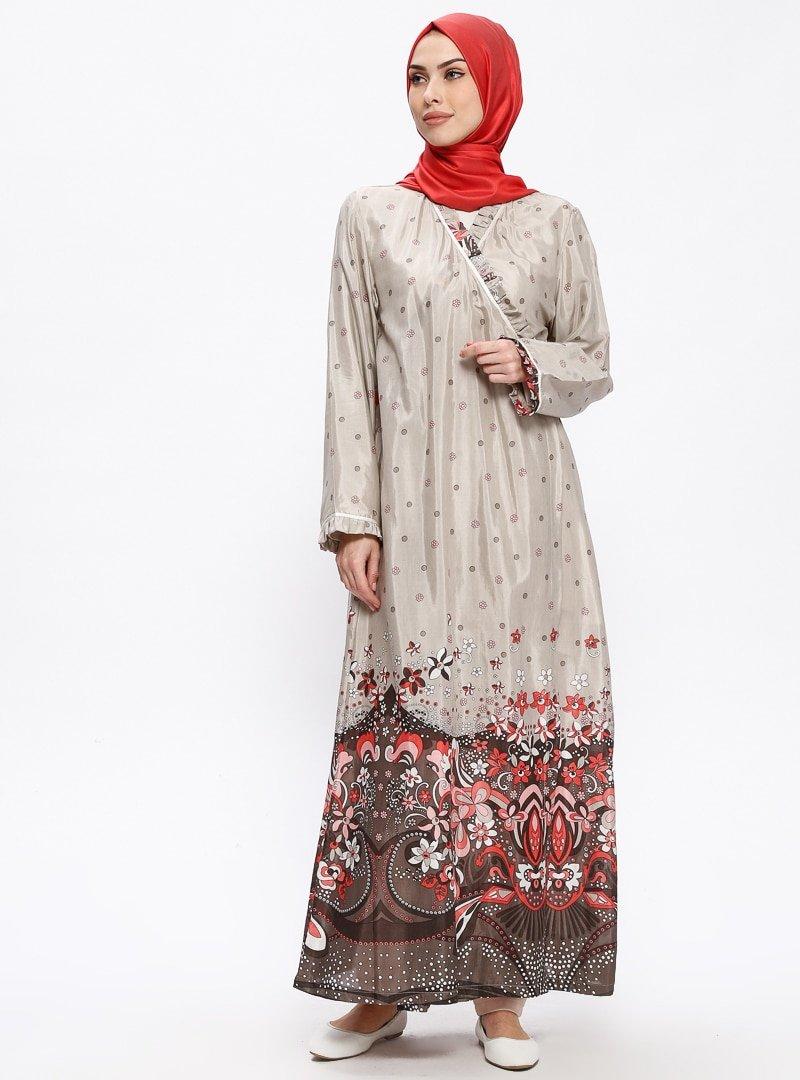 Me Like Vizon Desenli Namaz Elbisesi