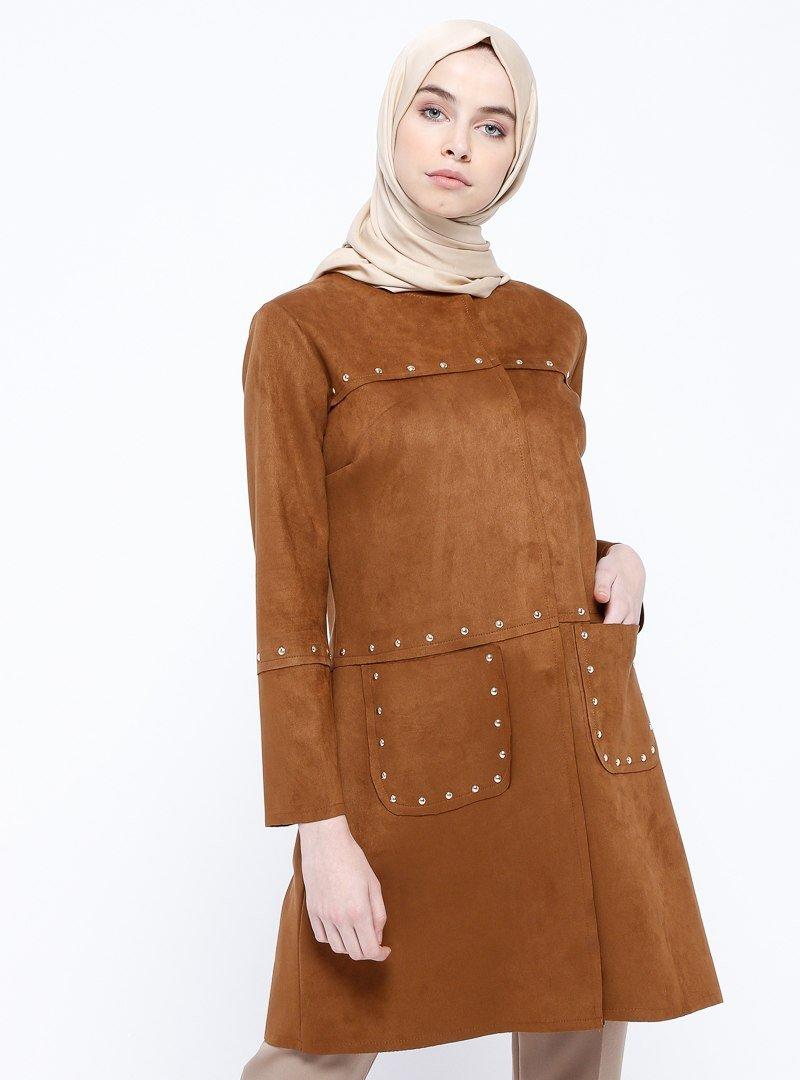 Ginezza Camel Süet Ceket