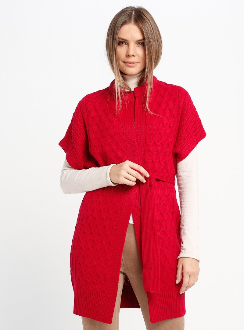 Sementa Kırmızı Triko Yelek