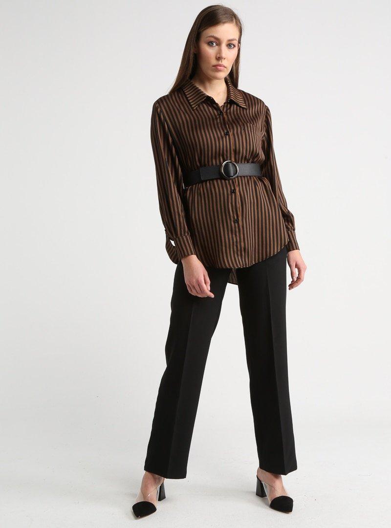 DESERT COVE FASHION Siyah Klasik Paça Pantolon