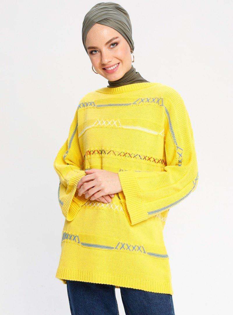 CE-CE Sarı Triko Kazak