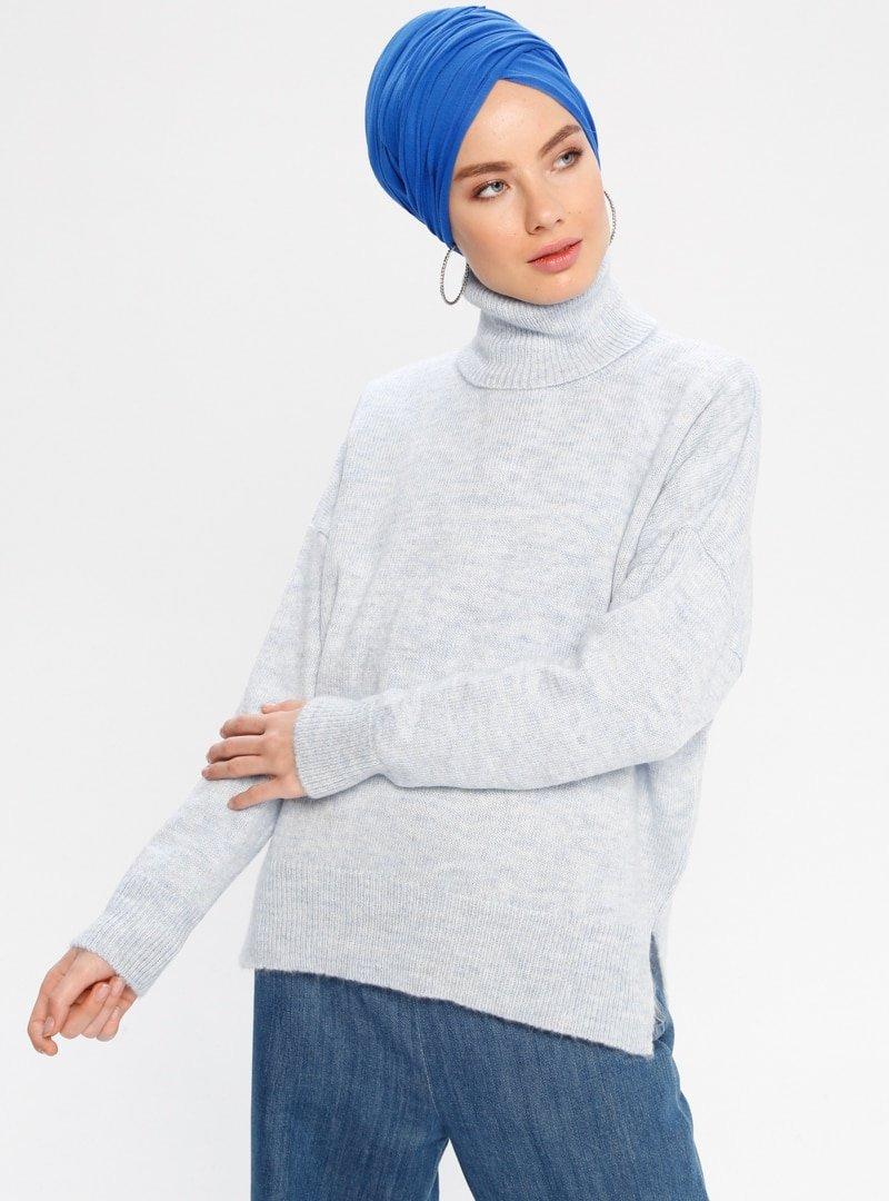 CE-CE Mavi Triko Kazak