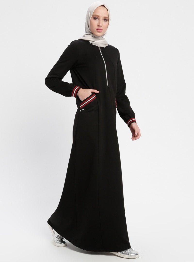 Ginezza Siyah Spor Elbise