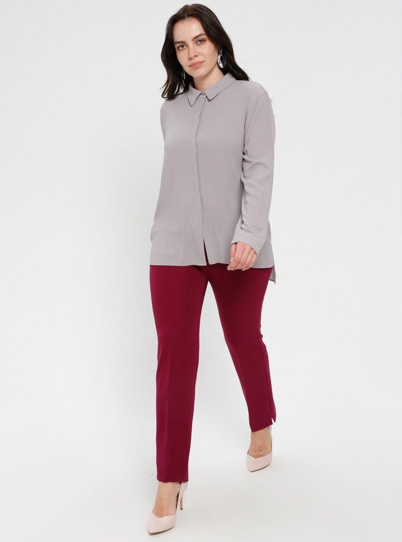 Loreen By Puane Fuşya Klasik Pantolon