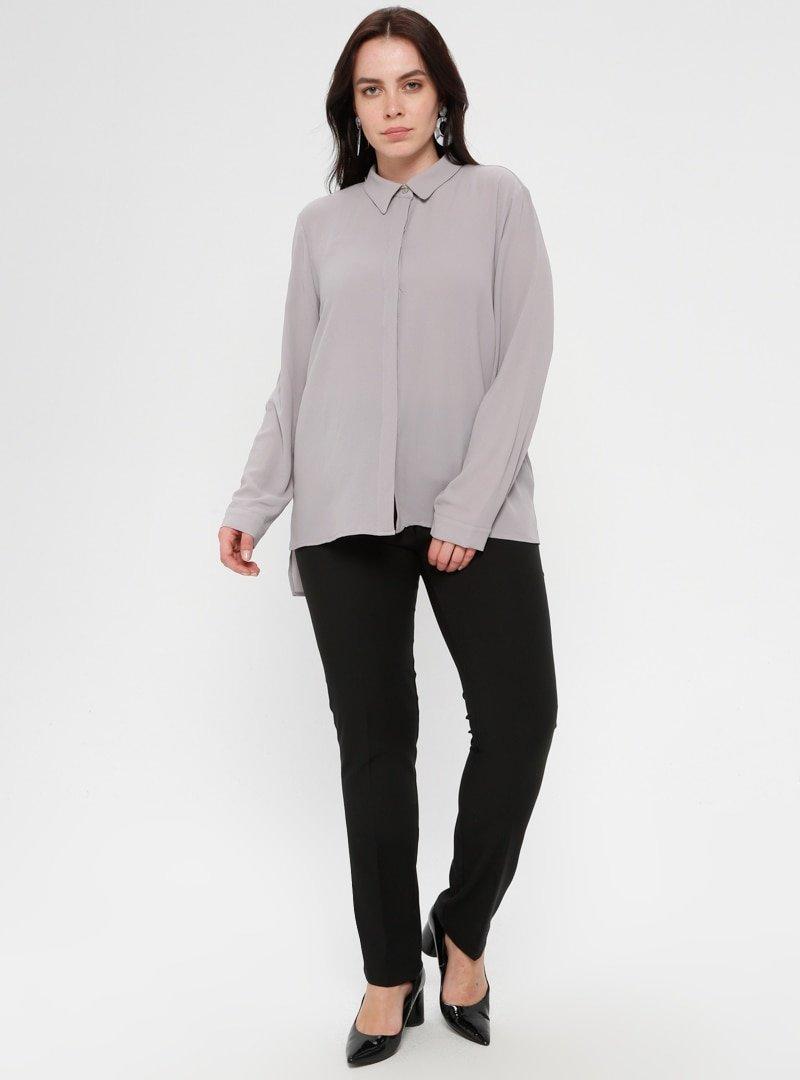 Loreen By Puane Siyah Klasik Pantolon