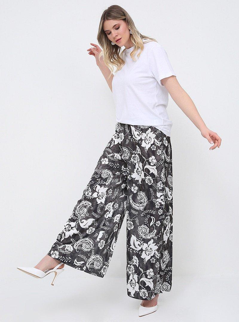 Alia Çiçek Desenli Pantolon