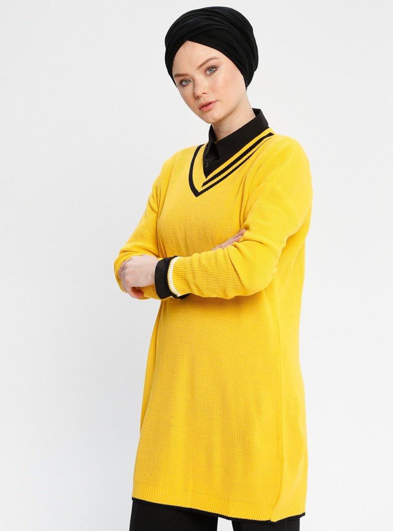 PİLİSE Sarı Triko Tunik