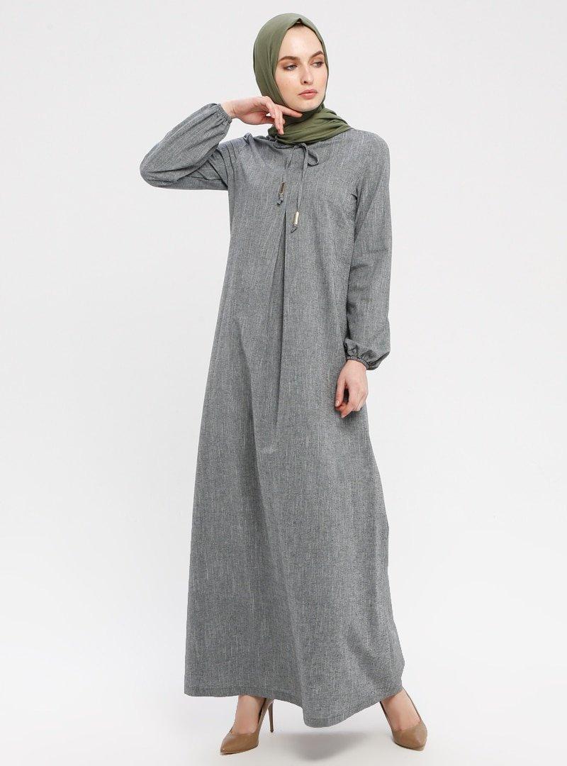 Ginezza Haki A Pileli Elbise