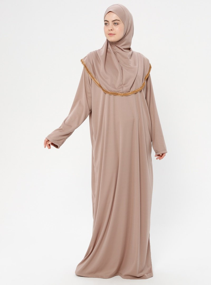 Hal-i Niyaz Koyu Vizon Tek Parça Namaz Elbisesi