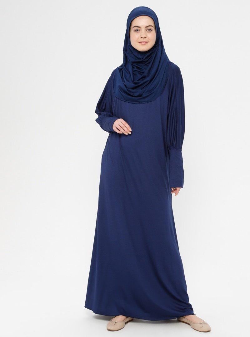 Hal-i Niyaz Saks Tek Parça Namaz Elbisesi