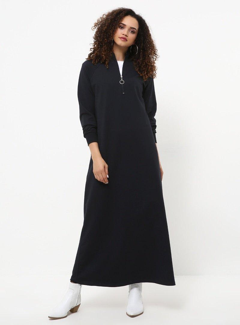 Everyday Basic Lacivert Fermuar Detaylı Spor Elbise