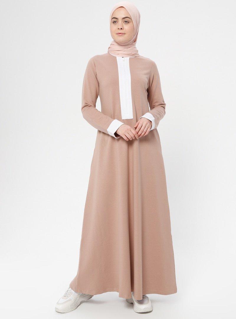 Shukr Somon Fermuar Detaylı Spor Elbise