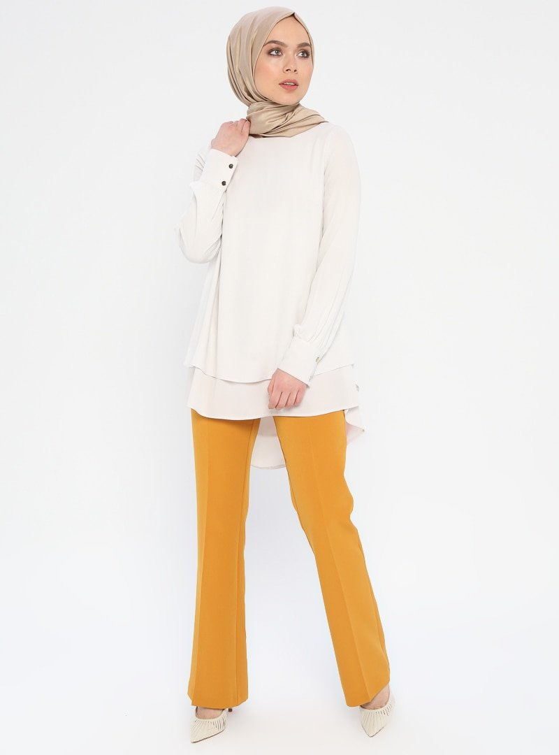 Nihan Hardal Cepleri Düğme Detaylı Pantolon