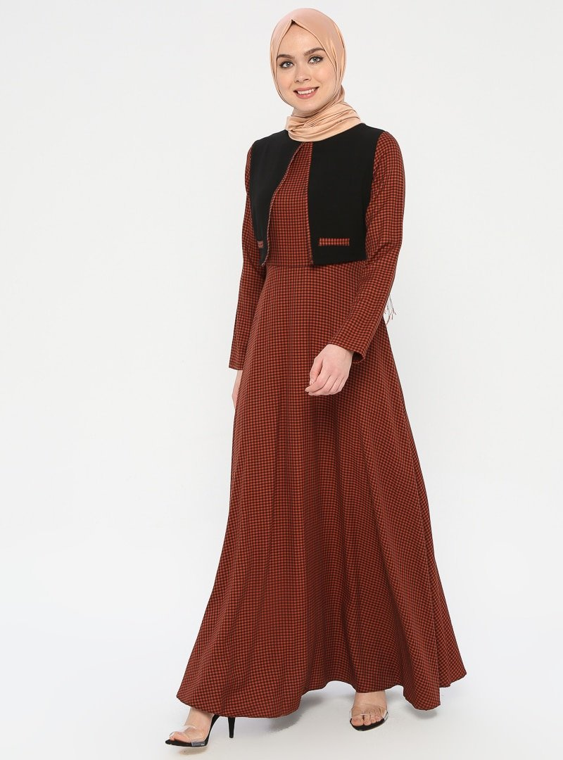 Ginezza Kiremit Garnili Elbise