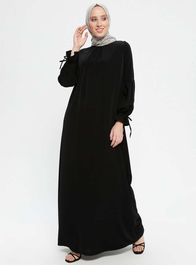Ginezza Siyah Balıkçı Yaka Elbise