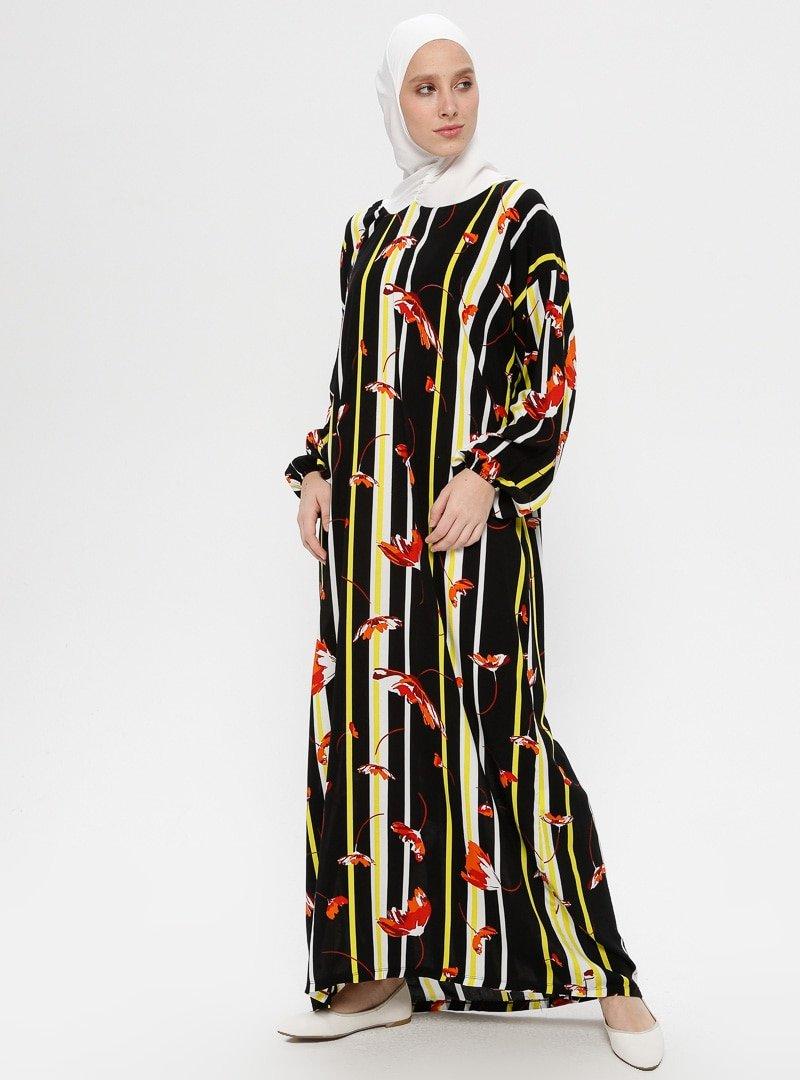 Ginezza Siyah Tek Parça Namaz Elbisesi