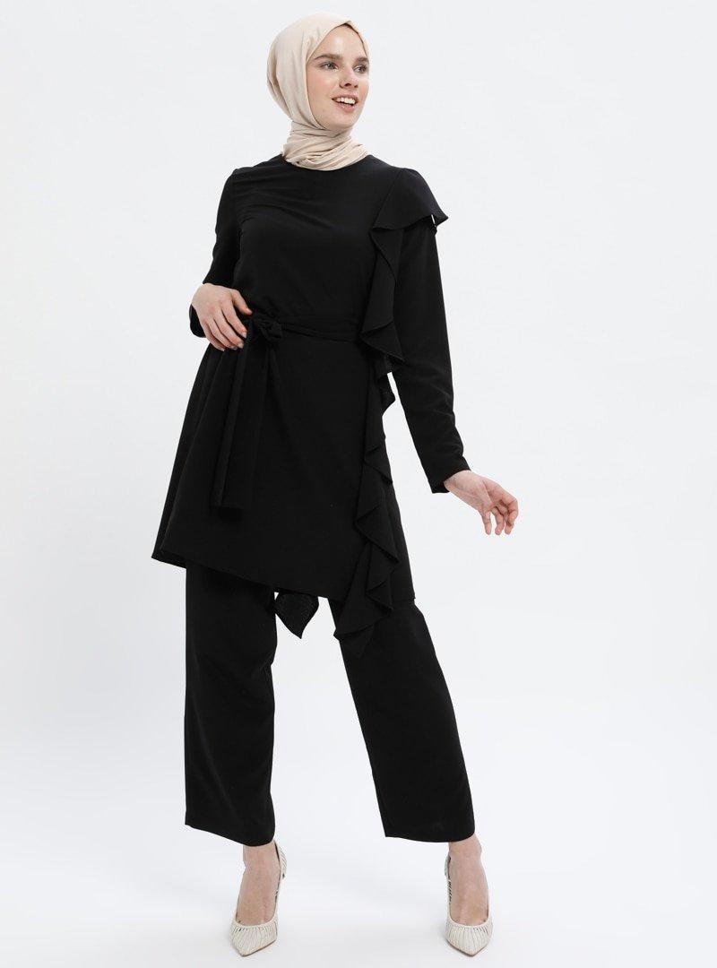 Armalux Siyah Tunik&Pantolon İkili Takım