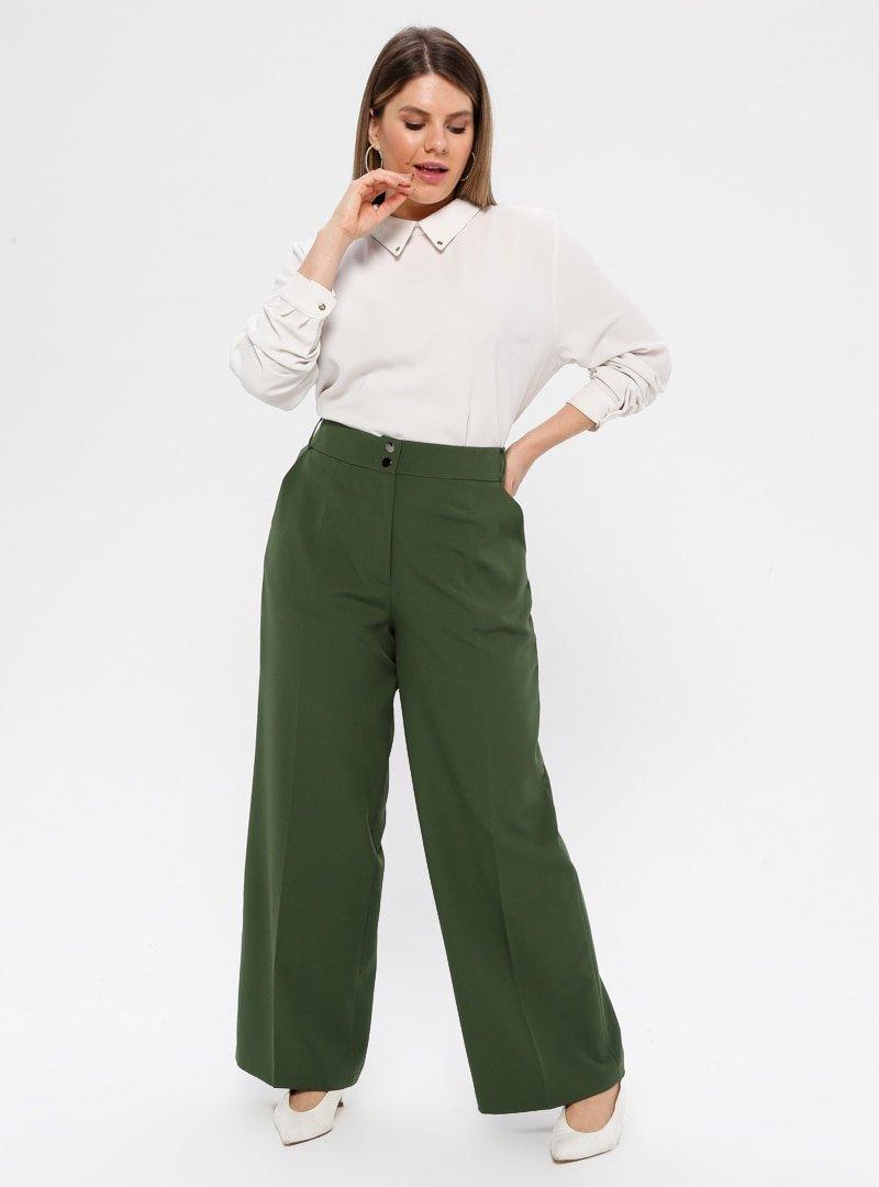 Çağrı Giyim Zümrüt Geniş Paça Pantolon