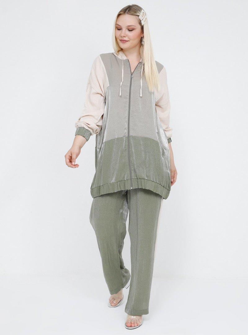 Alia Haki Ekru Tunik&Pantolon İkili Takım