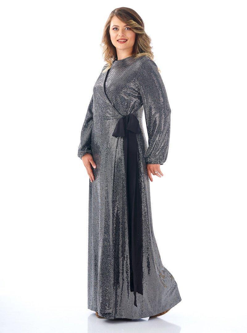 Saliha Siyah Anvelop Abiye Elbise