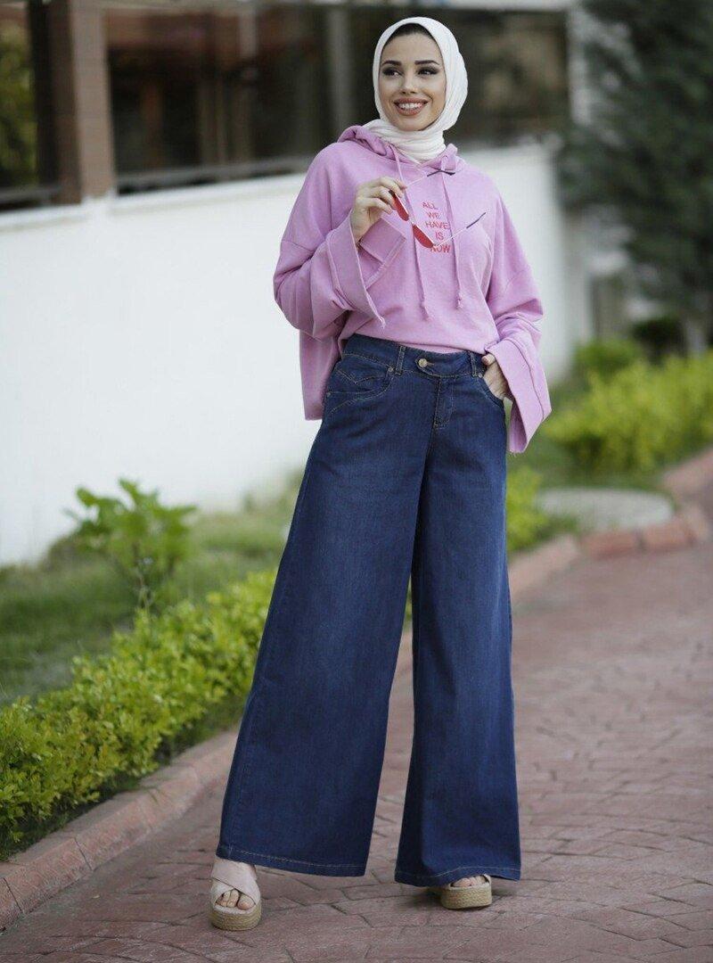 Neways Lacivert Pantolon