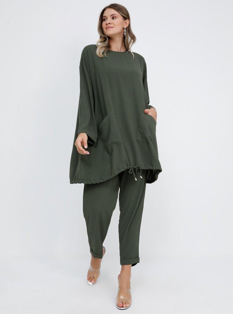 Alia Haki Tunik&Pantolon İkili Takım
