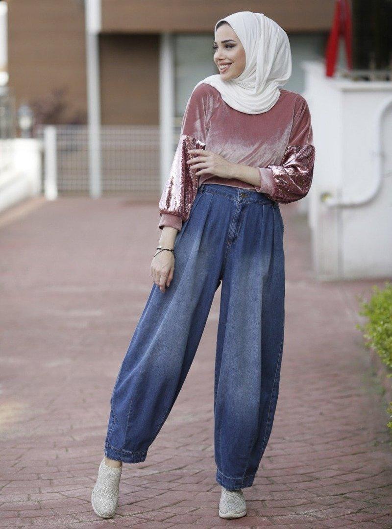 Neways Koyu Mavi Kot Pantolon