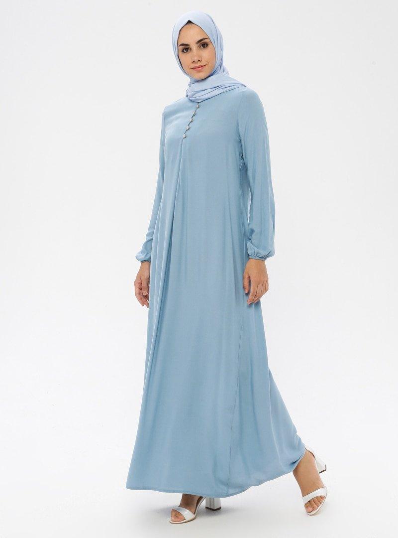 Ginezza Mavi A Pile Elbise