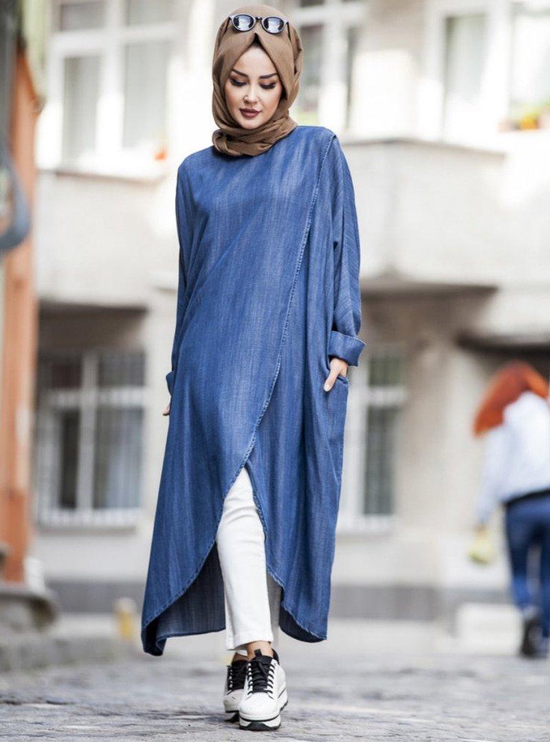 Neways Koyu Mavi Tunik