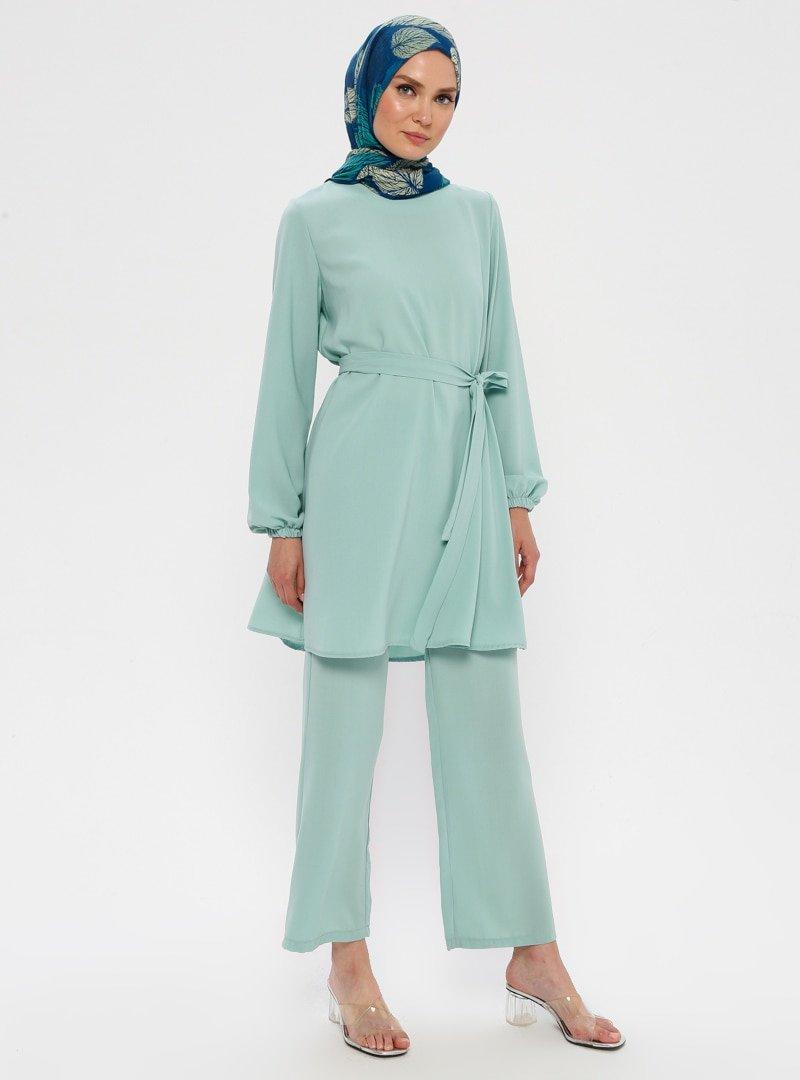 Ginezza Mint Tunik & Pantolon İkili Takım