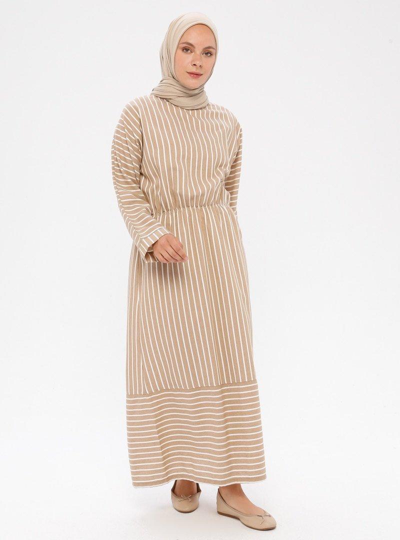 Me Like Vizon Çizgili Elbise