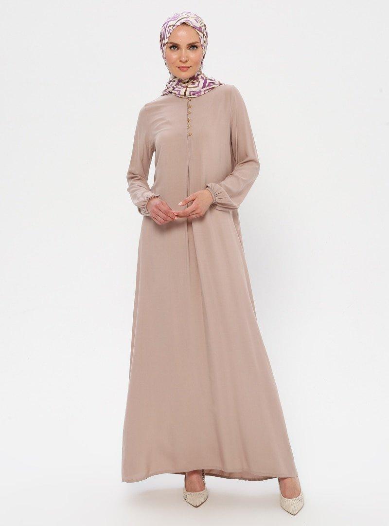 Ginezza Krem A Pile Elbise