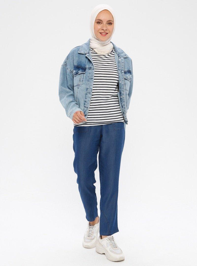 Timin Lacivert Kot Pantolon