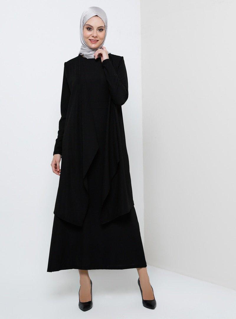 Tavin Siyah Yelek&Elbise İkili Takım