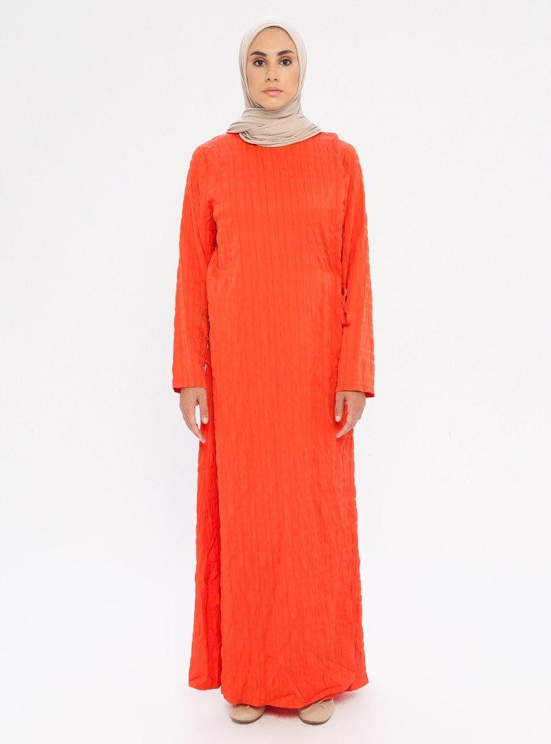 ModaNaz Turuncu Namaz Elbisesi
