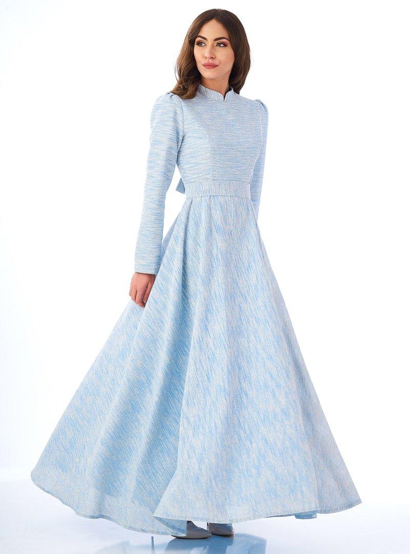 MİSS ZERA Mavi Soft Elbise