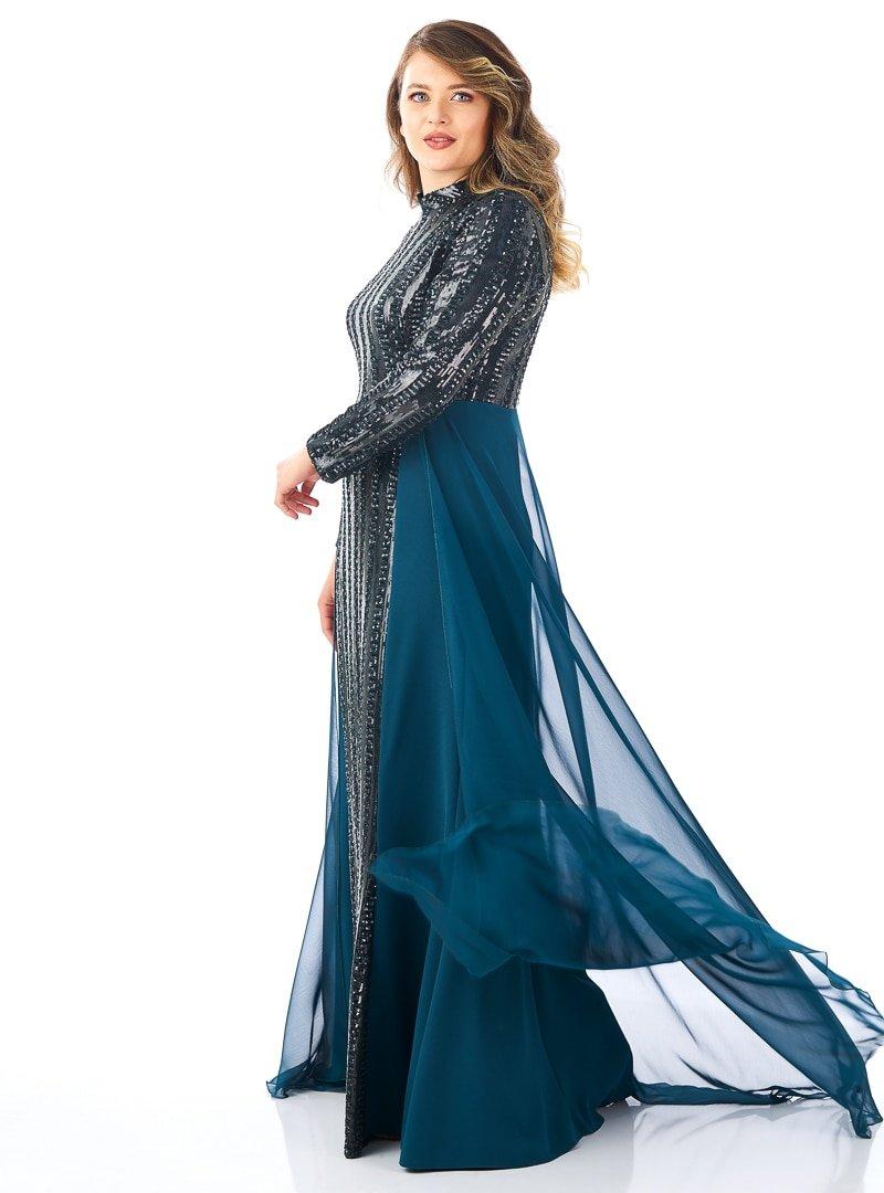 Saliha Yeşil Jade Abiye Elbise
