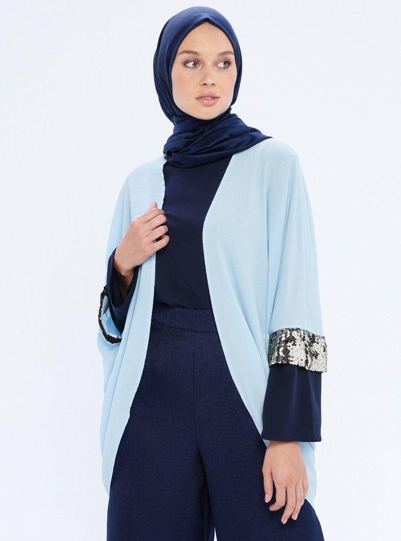 Mileny Bebe Mavisi Payet Detaylı Ceket