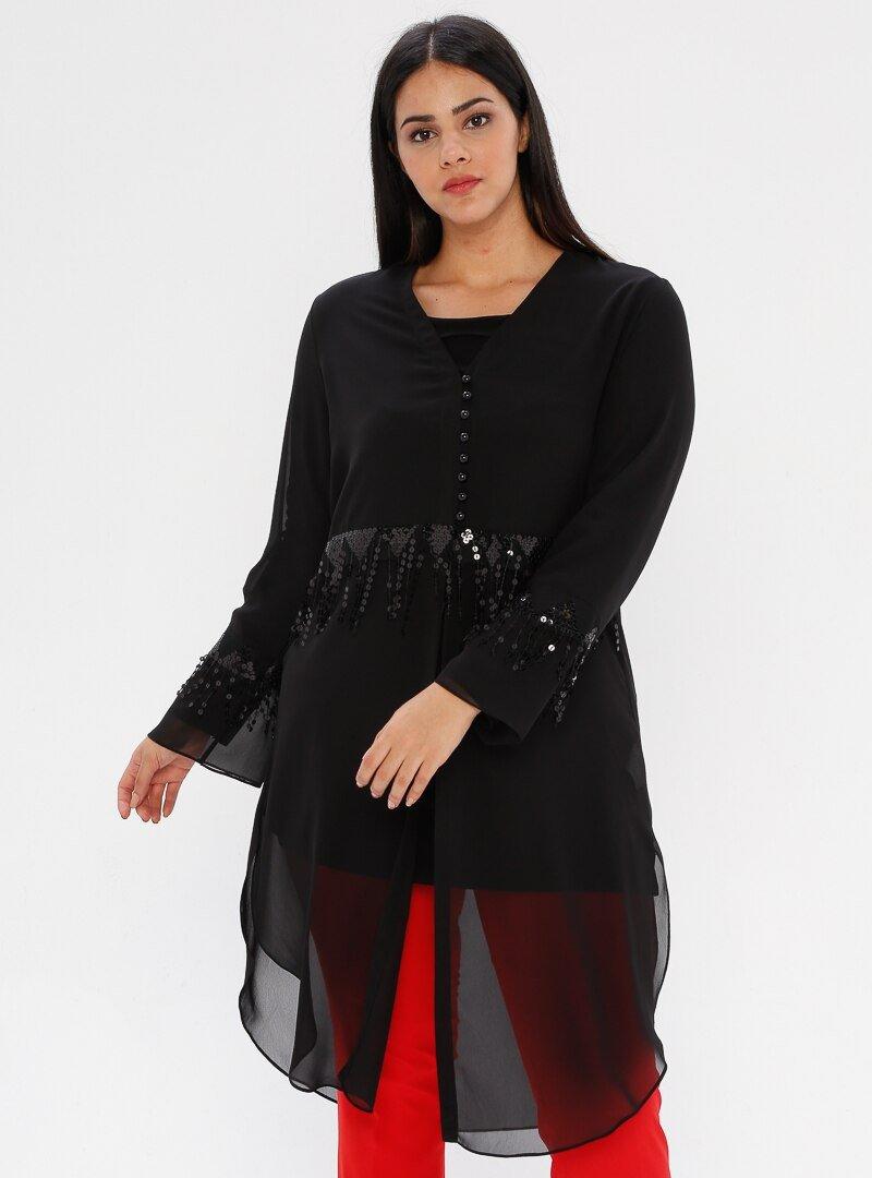 he&de Siyah Bluz&Tunik İkili Takım