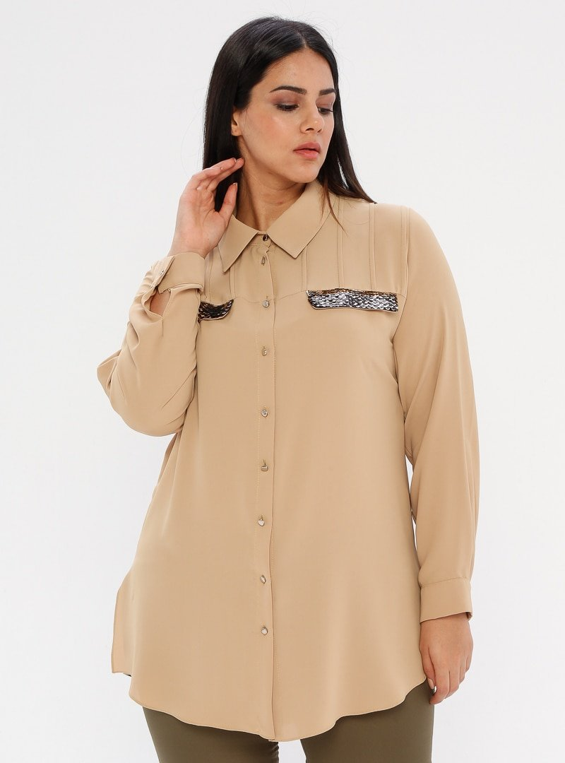 he&de Hardal Payet Detaylı Gömlek