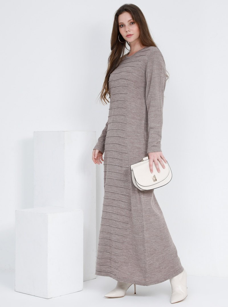 Alia Vizon Triko Elbise