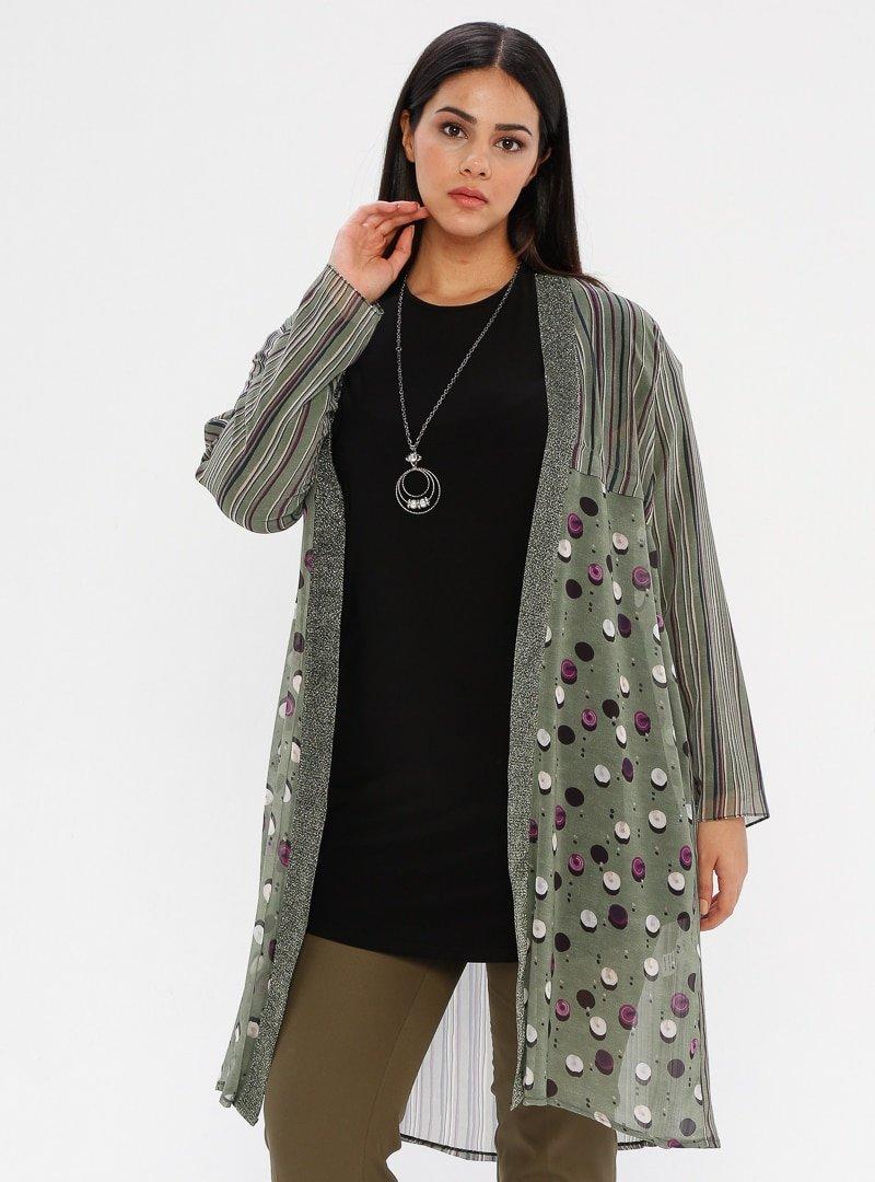 he&de Yeşil Tunik&Ceket İkili Takım