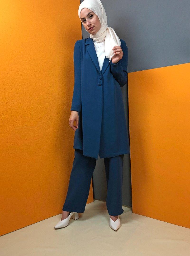Aydazen İndigo Pantolon&Ceket İkili Takım