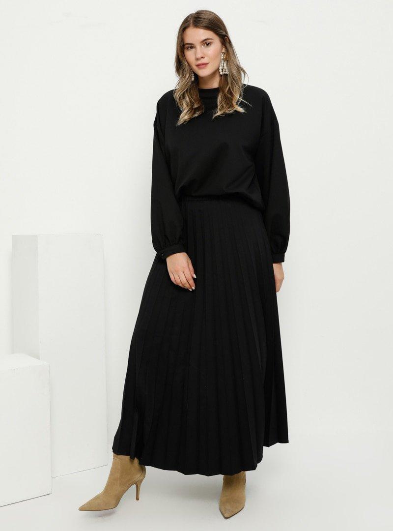 Alia Siyah Bluz&Etek İkili Takım