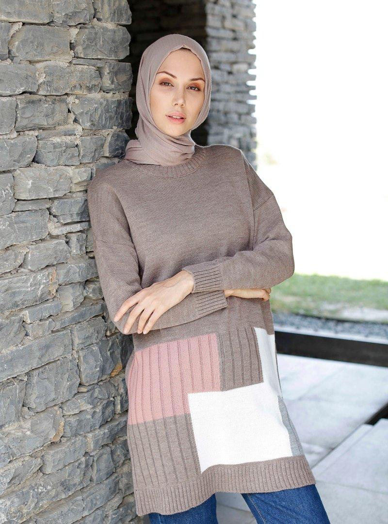 İnşirah Vizon Triko Tunik