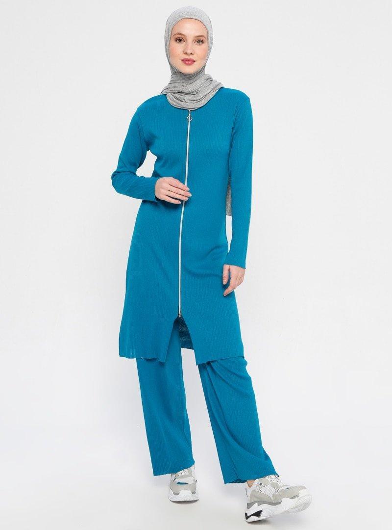 Çat Pat Tekstil Petrol Tunik&Pantolon İkili Takım