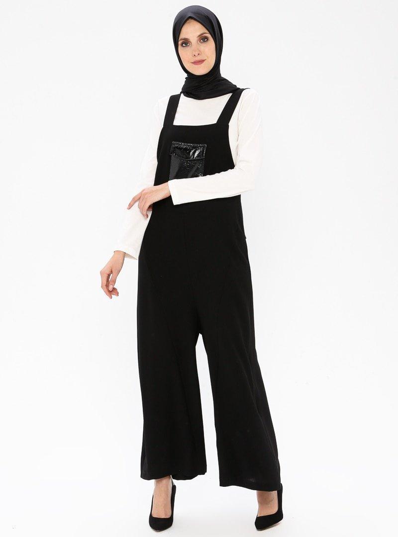 NARS Siyah Tulum&T-shirt 2'li Takım