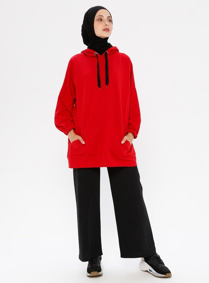 Çat Pat Tekstil Siyah Beli Lastikli Spor Pantolon