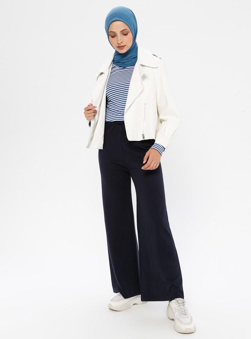 Çat Pat Tekstil Lacivert Beli Lastikli Spor Pantolon